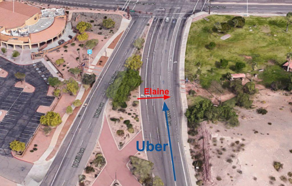 Mapa sytuacyjna wypadku Ubera