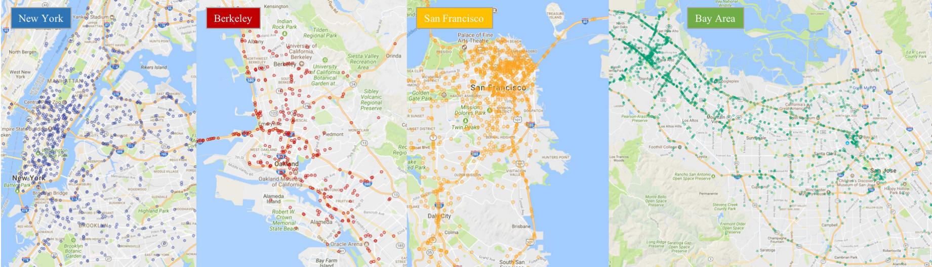 BDD100K Locations