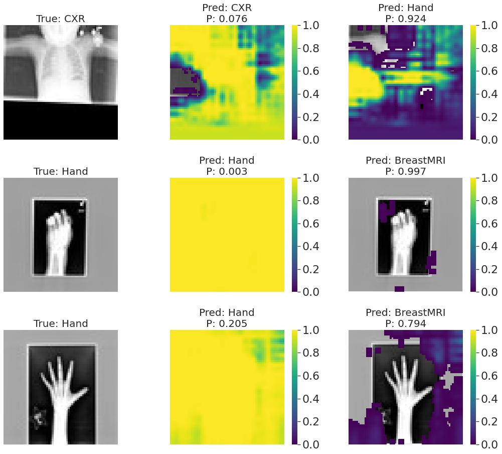 Occlusion sensitivity dla pomyłek najlepszego modelu
