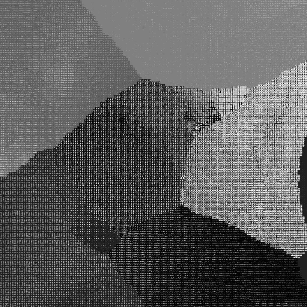 Wizualizacja t-SNE w gridzie - 132 x 132 - najlepszy model