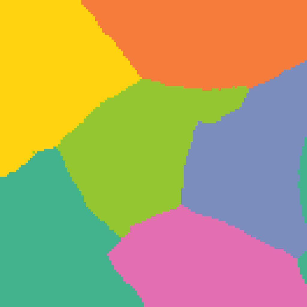 Wizualizacja t-SNE w gridzie - 132 x 132 - w kolorach - najlepszy model