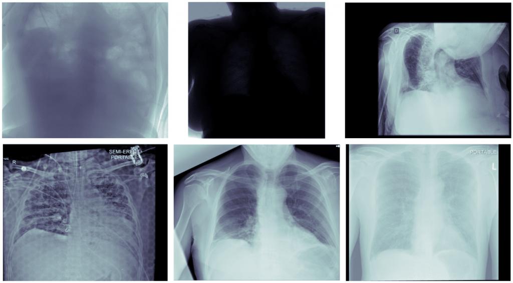 Przykłady sześciu obrazów nietypowych